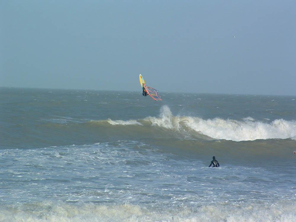Windsurf sur le spot de mers