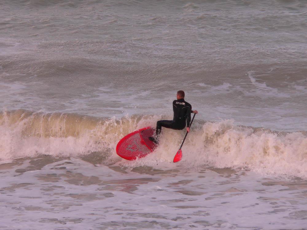 Paddle dans les vagues à Mers-les-Bains